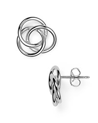 Nancy B Love Knot Earrings Silver