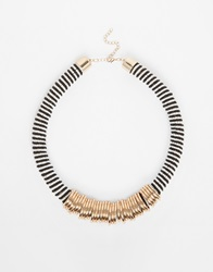 River Island Wire Wrap And Bead Necklace Metalyellow