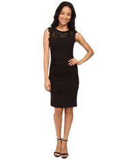 Kut From The Kloth Lace And Knit Dress Black Women's Dress