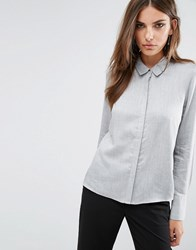 Y.A.S Sina Long Sleeve Shirt Grey