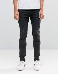 Weekday Form Super Skinny Jeans Washed Grey Washed Grey 08 101 Black