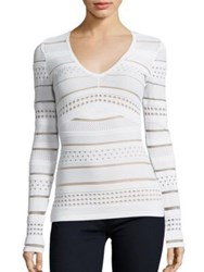 Bailey 44 Niki Long Sleeve Sweater Cream Black