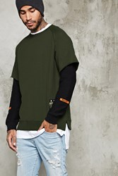 Forever 21 Layered Sleeve Way Up Pullover