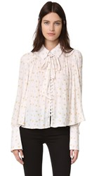 Free People Modern Muse Top Ivory Combo