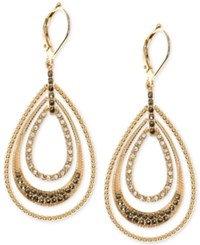 Judith Jack Gold Plated Sterling Silver Crystal And Marcasite Accented Orbital Hoop Earrings