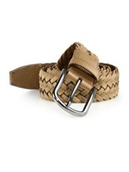 Tod's Braided Leather Belt Tan