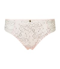 Chantelle Embroidered Lace Briefs Female Pink