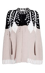 Peter Pilotto Intarsia Knit Cape Tan