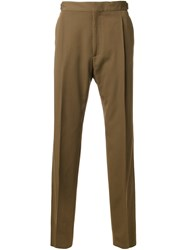 Lanvin Pleated Trousers Brown