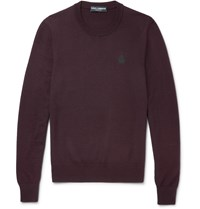 Dolce And Gabbana Virgin Wool Sweater Purple