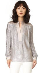 Tory Burch Caspian Tunic Top Metallic Pink