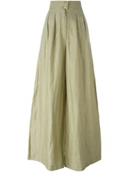 Chanel Vintage Wide Leg Trousers Green