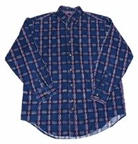 Vintage 90S Blue Button Up Shirt Mens Size By Vintagemensgoods