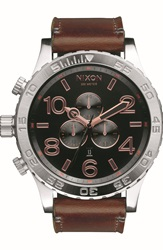 Nixon 'The 51 30 Chrono' Watch 51Mm Brown Silver Rose Gold