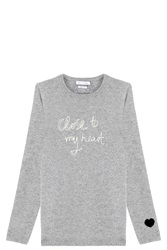 Bella Freud My Heart Sweater Grey