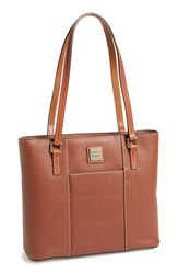Dooney And Bourke 'Small Lexington Pebble Grain Collection' Water Resistant Leather Shopper Brown Amber