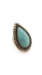 Samantha Wills Bohemian Bardot Ring Burnished Gold Blue