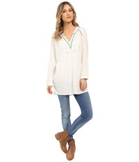 Roxy Beach Bandit Top Sand Piper Women's Long Sleeve Pullover White