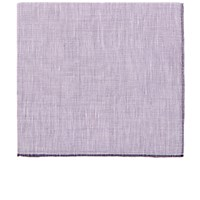 Simonnot Godard Men's Slub Weave Pocket Square Purple