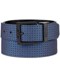 Kenneth Cole Reaction Men's Perforated Belt Navy Black