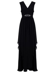 Jacques Vert Maxi Hanky Hem Dress Black
