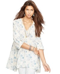 Denim And Supply Ralph Lauren Tasseled Floral Print Tunic