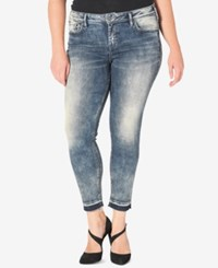 Silver Jeans Co. Plus Size Aiko Indigo Blue Wash Skinny Ankle