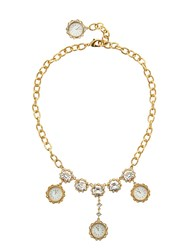 Dolce And Gabbana Midnight Clock' Necklace Gold