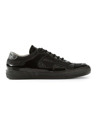 Diesel Black Gold Panelled Sneakers