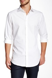 14Th And Union Trim Fit Cotton Stretch Dress Shirt White