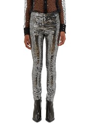 Saint Laurent Sequin Skinny Jeans Black