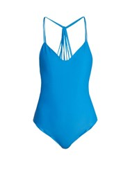 Mikoh Copacabana V Neck Swimsuit Blue