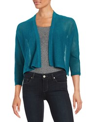 Eileen Fisher Plus Open Front Knit Cardigan Teal