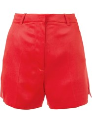 Thierry Mugler Mugler High Waisted Shorts Red