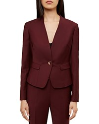 Ted Baker Deliha Tailored Blazer Oxblood