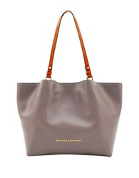 Dooney And Bourke City Flynn Leather Tote Taupe