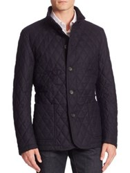 Sanyo Quilted Wool Blend Jacket Midnight