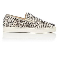 Christian Louboutin Men's Roller Boat Slip On Sneakers White