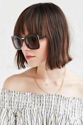 Urban Outfitters Kerry Boxy Square Sunglasses Brown
