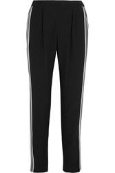 Fendi Crepe De Chine Paneled Crepe Track Pants