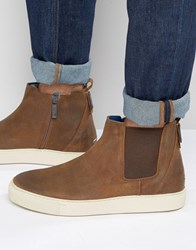 Tommy Hilfiger Denim Cupsole Chelsea Boots Brown