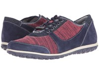 Hush Puppies Basel Audra Navy Suede Women's Shoes Blue