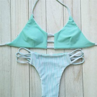 Elle Reversible Printed Cut Out Turquoise Brazilian By Milaniaswim