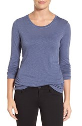 Caslonr Women's Caslon Long Sleeve Slub Knit Tee Blue Shadow