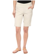 Jag Jeans Petite Ainsley Pull On Classic Fit Bermuda Bay Twill Stone Women's Shorts White
