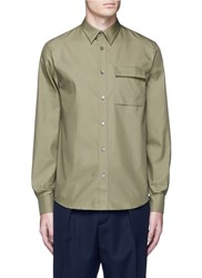 Acne Studios 'Spin' Pocket Military Shirt Green