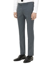 Sandro Wool Slim Fit Trousers Grey