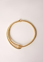 Missguided Metal Clasp Detail Choker Gold Gold