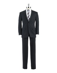 Calvin Klein Modern Fit Single Breasted Wool Suit Charcol