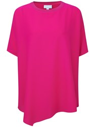 Pure Collection Caitlin Silk Poncho Top Summer Pink